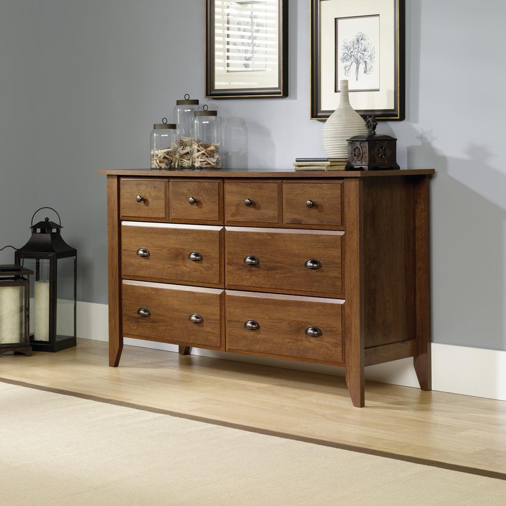 Shoal Creek 6-Drawer Oiled Oak Dresser