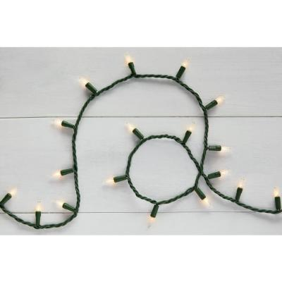 22 ft. 100-Light Mini Incandescent Clear String Light with Green Wire