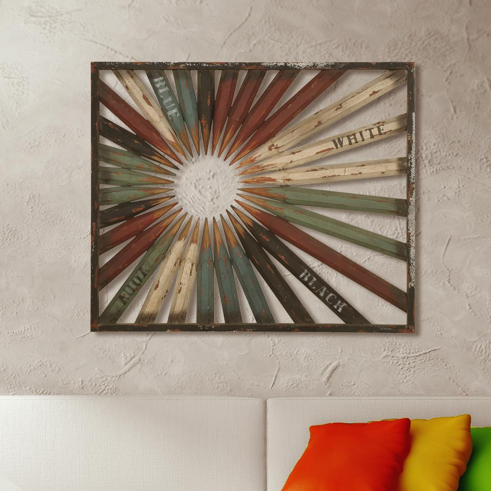 "36 in. x 30 in. ""Art Pencil"" Wood Wall Art"