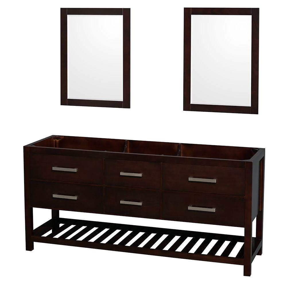 Natalie 72 In. Double Vanity Cabinet With 24 In. Mirrors In