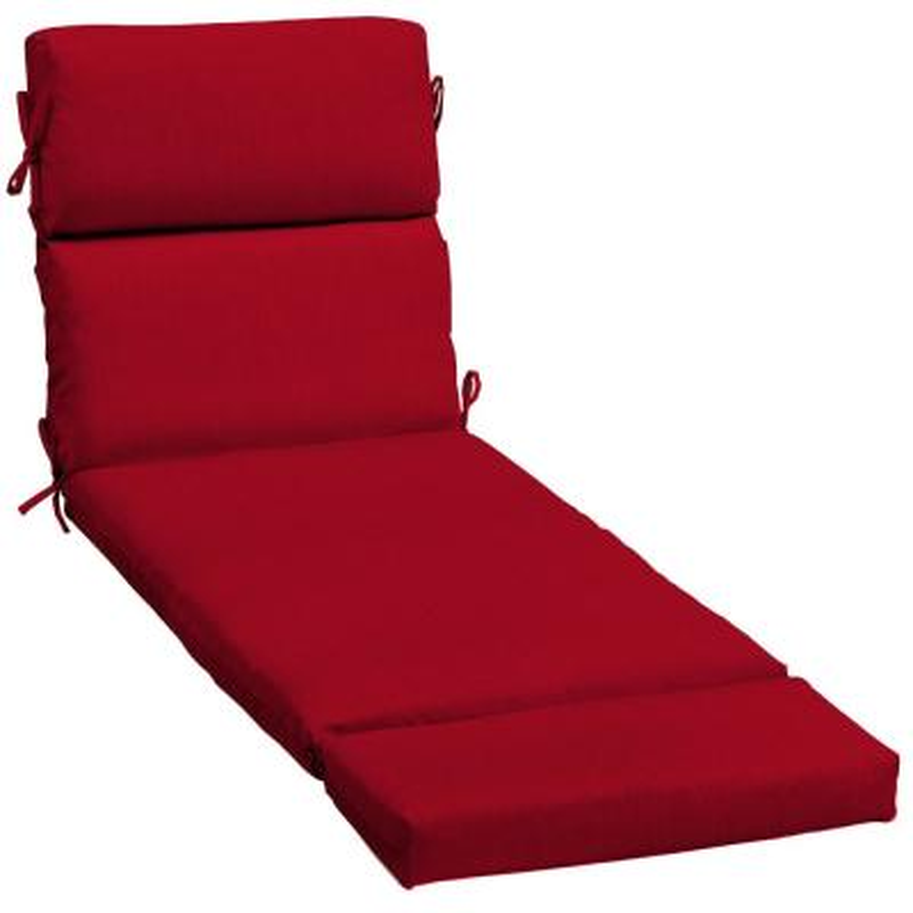 23 x 73 Sunbrella Spectrum Cherry Outdoor Chaise Lounge Cushion