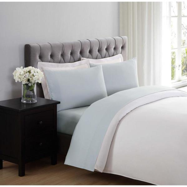 Truly Soft Silver Grey 4-Piece Solid 180 Thread Count Microfiber Full Sheet set