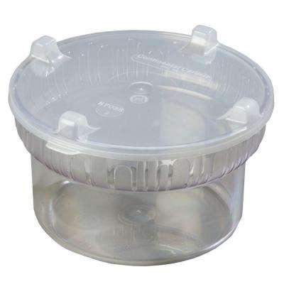 1.90 qt., 7.12 in. Diameter Polycarbonate Gourmet Crock with Lid in Clear (Case of 6)