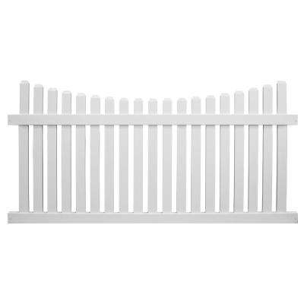 Richmond 3 ft. H x 6 ft. W White Vinyl Picket Fence Panel Kit