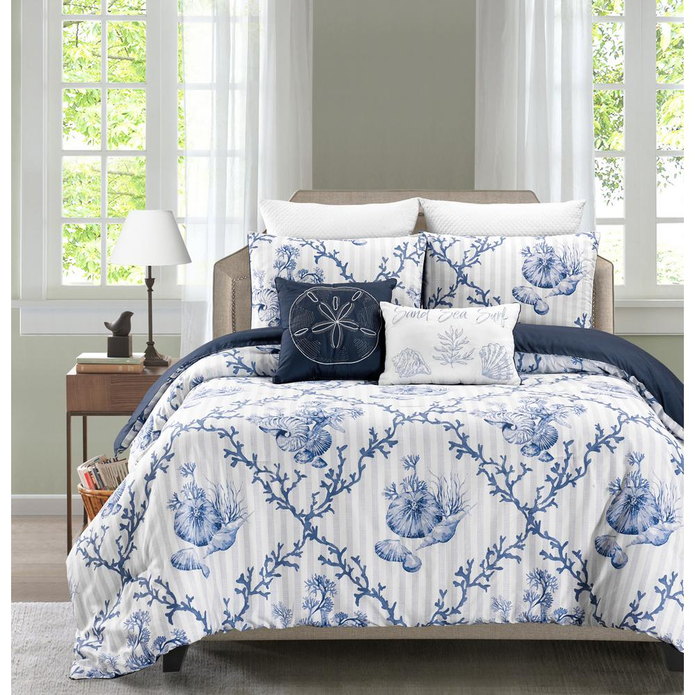 Cape Anne 5-Piece Reversible Full/Queen Comforter Set