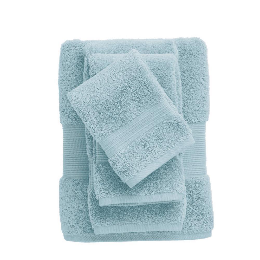 The Company Store Legends Regal Egyptian Cotton Single Bath Sheet in Blue Sky