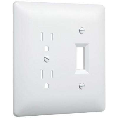 2-Gang Duplex/Toggle Wall Plate - White (10-Pack)