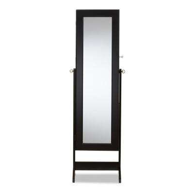 Alena Black Wood Jewelry Armoire