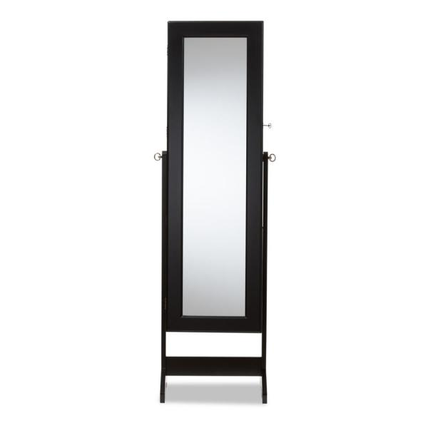 Baxton Studio Alena Black Wood Jewelry Armoire 28862-7057-HD