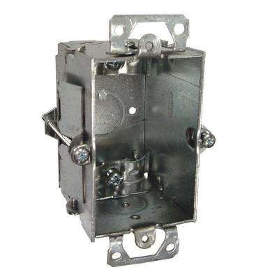 3 in. x 2 in. Gangable Switch Box with NMSC Clamps and Plaster Ears