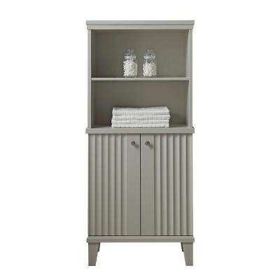 Parker 26.56 in. W x 14.19 in. D x 60 in. H Double Door Tall Side Unit in Bedford Grey