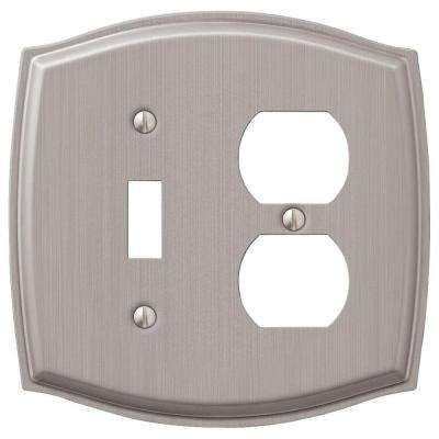 Sonoma 1-Toggle and 1-Duplex Combination Wall Plate - Nickel