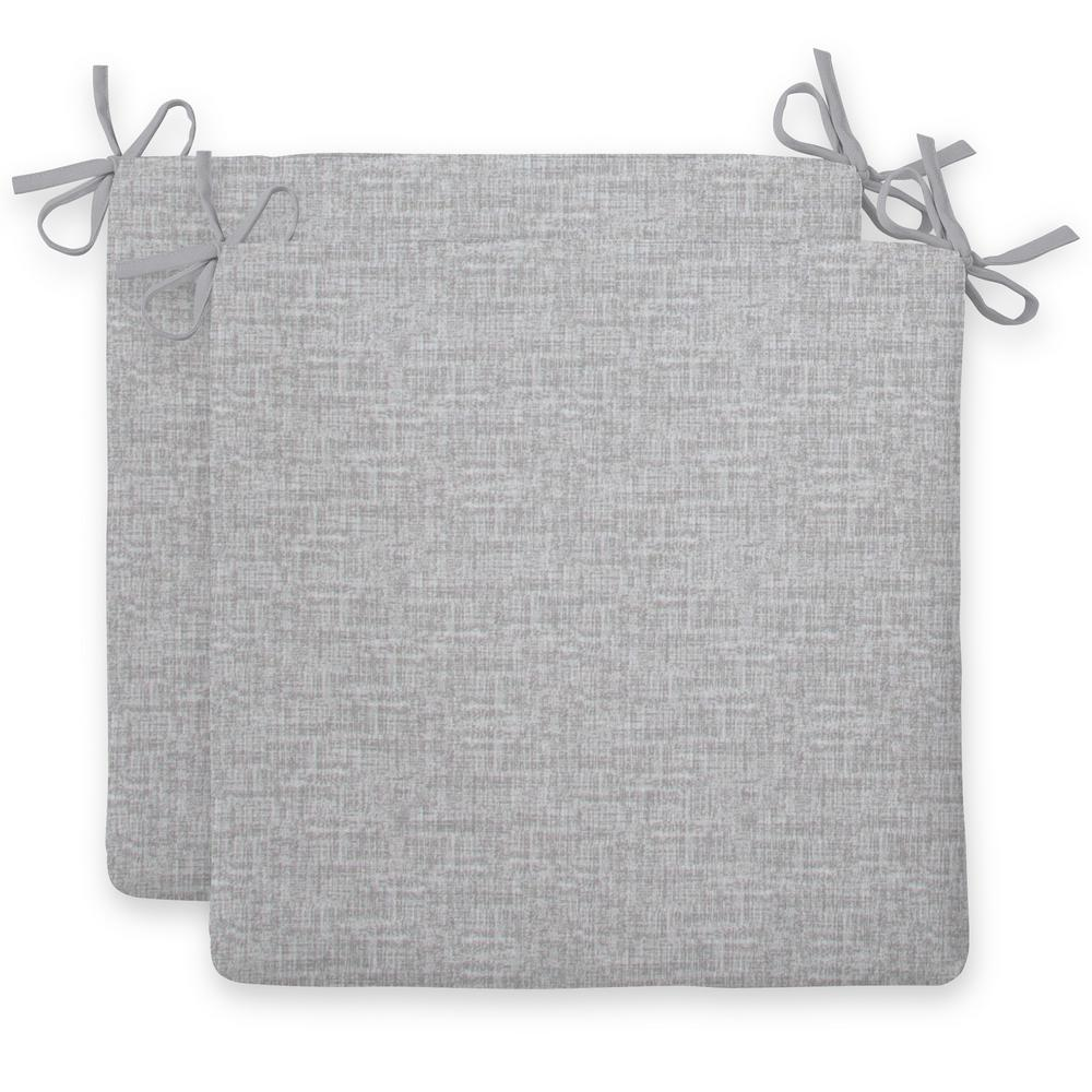 Portico Grey Square Outdoor Seat Cushion (2-Pack)