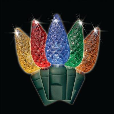 Battery-Operated 35-Light Multi-Color C6 LED Light Set (Set of 2)