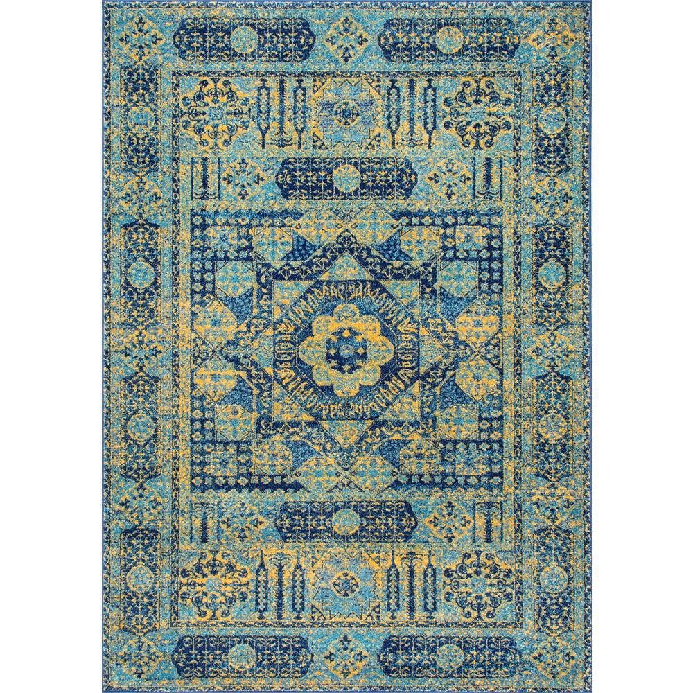 Nuloom Vintage Emelda Blue 4 Ft X 6 Ft Area Rug Rzbd34a