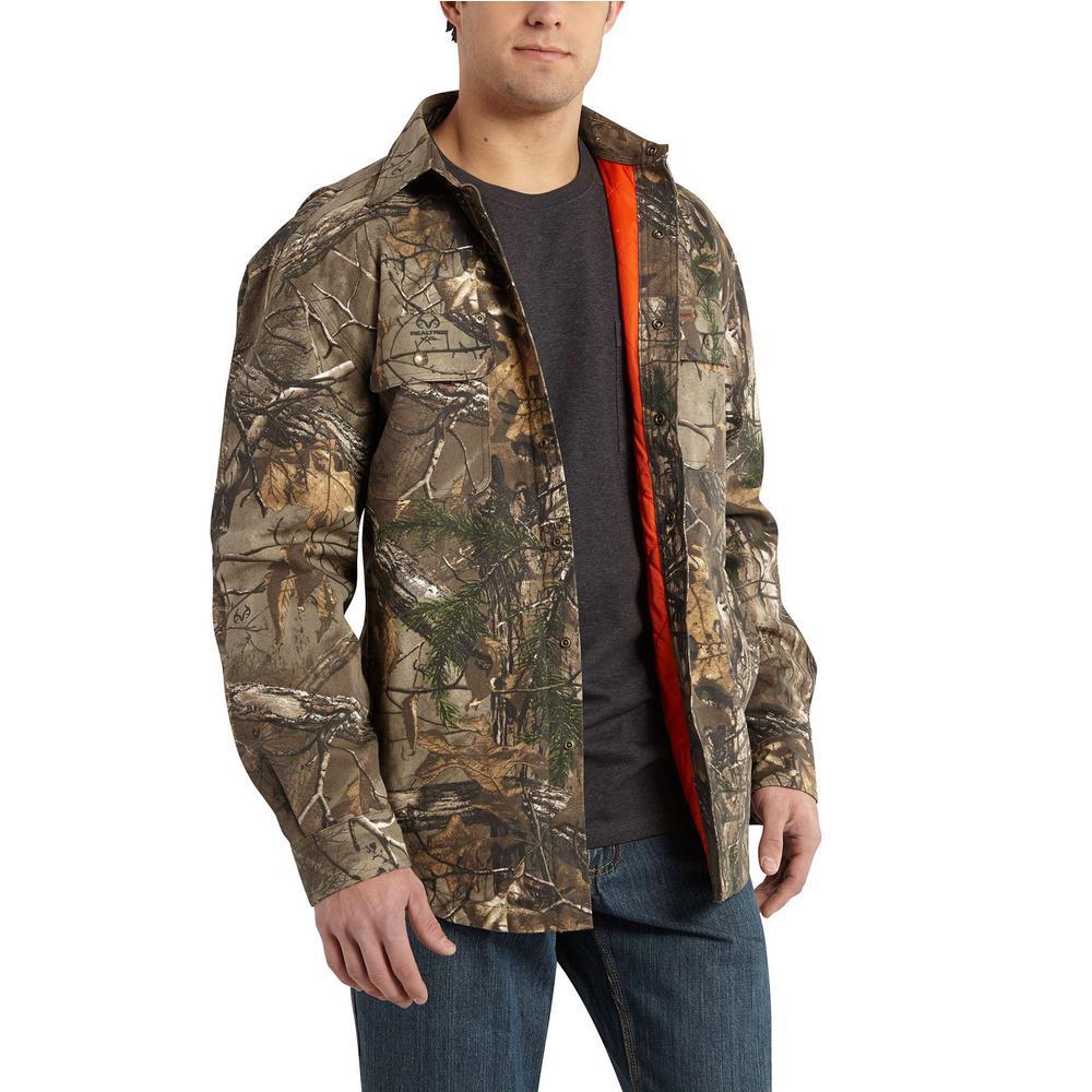7aab6dcb17a39 Carhartt Men's Regular Large Realtree Xtra Cotton Shirt Jacket ...