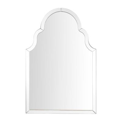 Medium Ornate Arched Beveled Glass Classic Accent Mirror (35 in. H x 24 in. W)