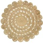 Natural Jute Natural Round 6 ft. x 6 ft. Indoor Area Rug