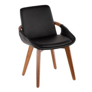 78c40455c766 Lumisource Black and Grey Clubhouse Vintage Faux Leather Dining ...