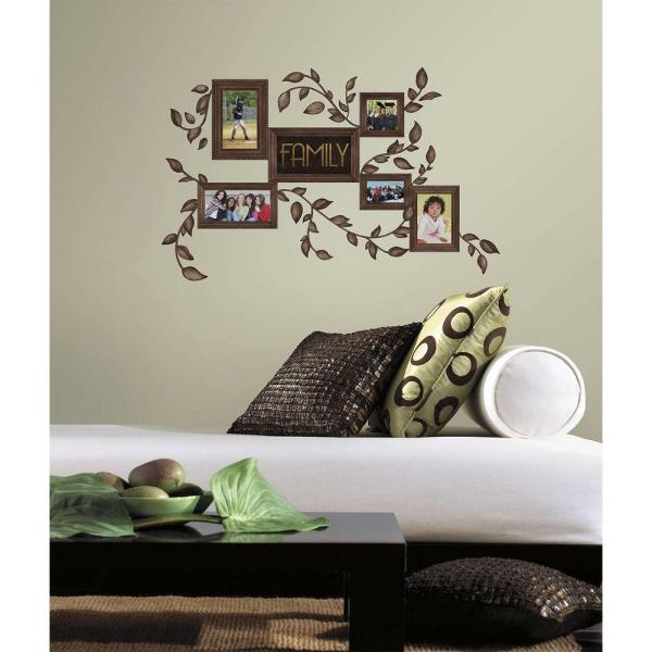 Roommates 5 In X 11 5 In Family Frames Peel And Stick Wall Decals
