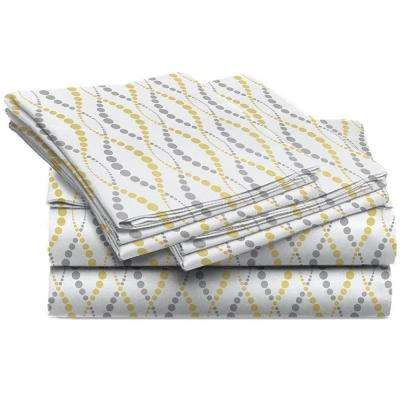 Jill Morgan Fashion Printed Gazelle Straw Microfiber California King Sheet Set (4-Piece)