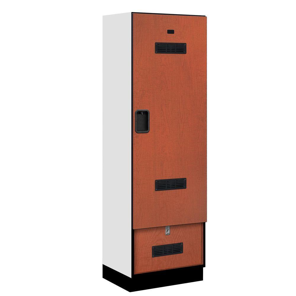 30000 Series 24 in. W x 76 in. H x 18.75 in. D Designer Gear Locker in Cherry