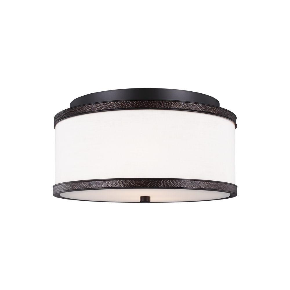 Marteau 2-Light Oil Rubbed Bronze Flush Mount