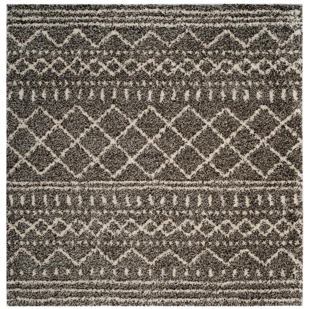 Arizona Shag Brown/Ivory 7 ft. x 7 ft. Square Area Rug