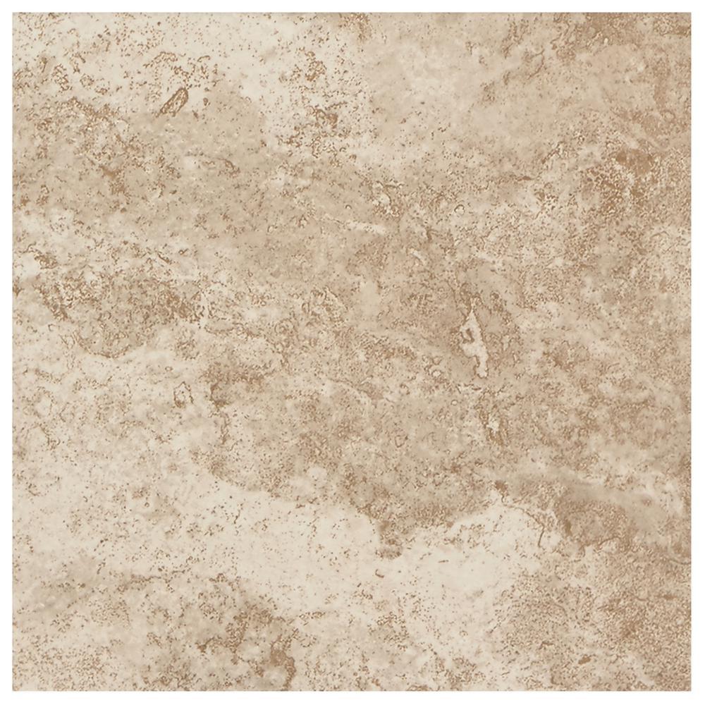 Tumbled Noce Stone Effect Travertine Wall Tile Pack Of 15: MARAZZI VitaElegante Crema 12 In. X 24 In. Porcelain Floor