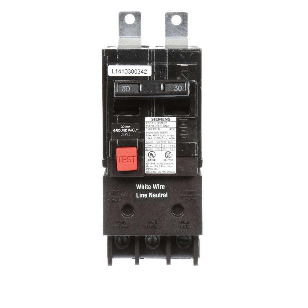 Square D Qo 30 Amp 2 Pole Circuit Breaker Qo230cp The Home Depot Breakers That Won39t Reset Double 22 Ka Type Bleh Gfi