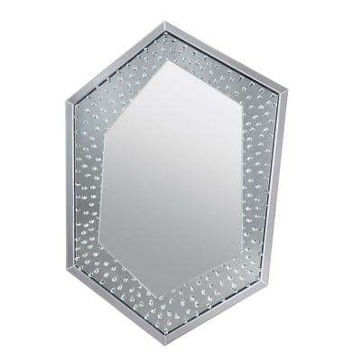 Nysa Mirrored and Faux Crystals Wall decor