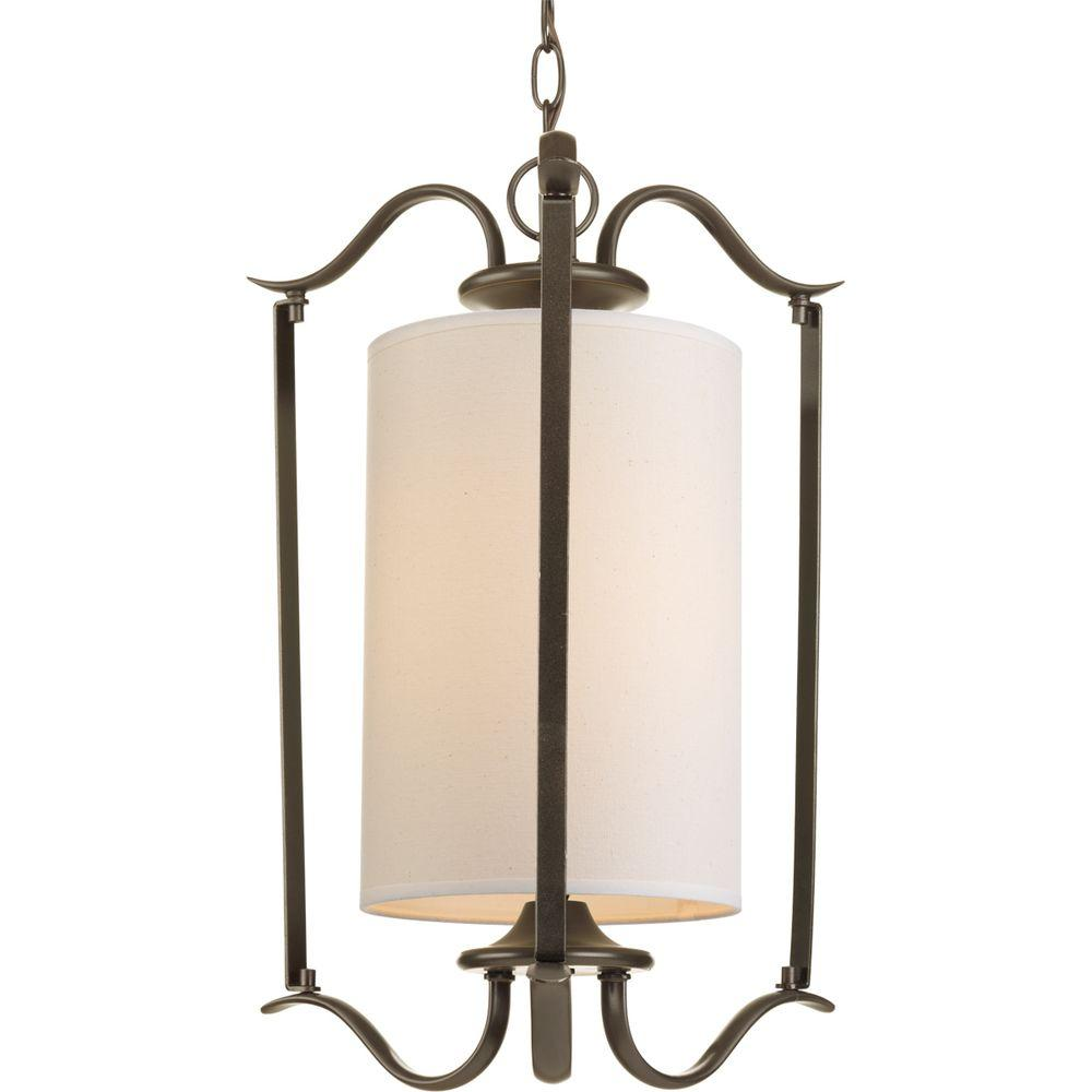 Progress Lighting Inspire Collection 3 Light Antique: Progress Lighting Inspire 1-Light Antique Bronze Foyer