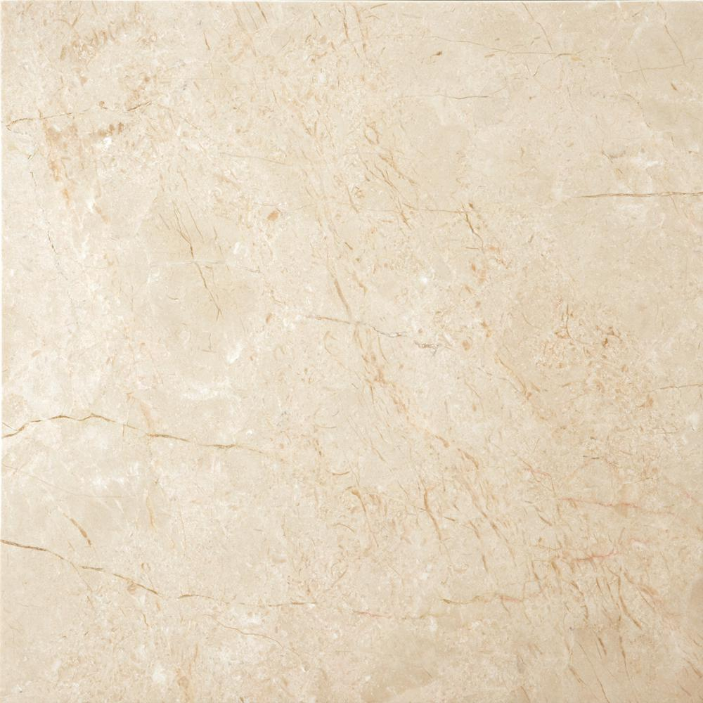 Emser Marble Crema Marfil Classico Polished 12.01 in. x 12.01 in. Marble Floor and Wall Tile