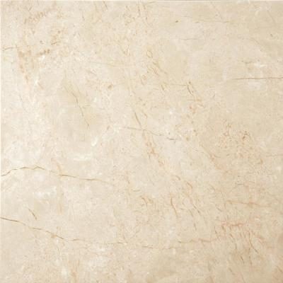 Marble Crema Marfil Classico Polished 12.01 in. x 12.01 in. Marble Floor and Wall Tile