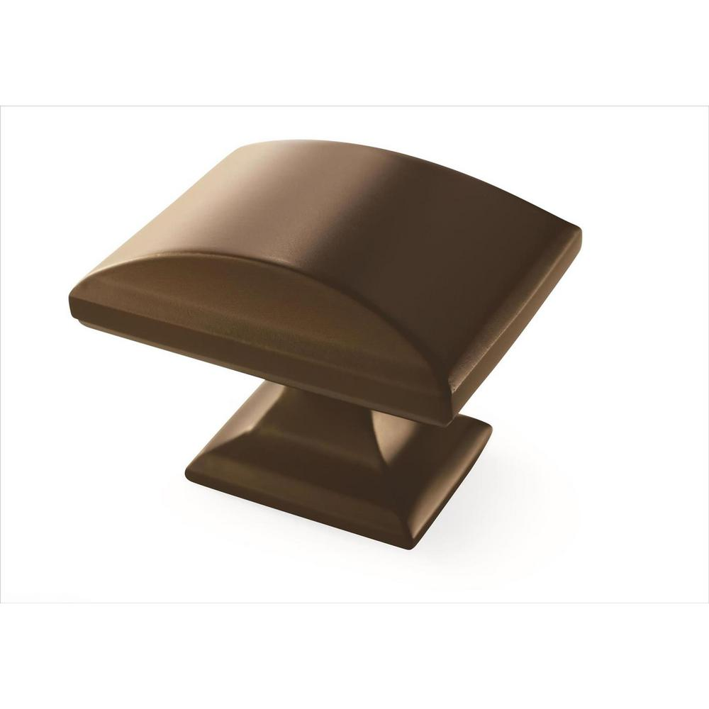 Amerock Candler 1-1/2 in (38 mm) Length Caramel Bronze Cabinet Knob