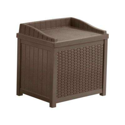 22 Gal. Java Resin Wicker Storage Seat