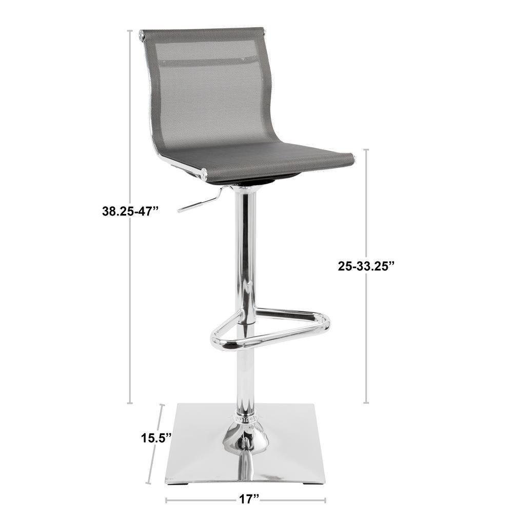 Wondrous Lumisource Mirage Silver Adjustable Height Bar Stool Bs Tw Machost Co Dining Chair Design Ideas Machostcouk