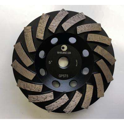 5 in. Segmented Diamond Grinding Turbo Cup Wheel for Concrete and Mortar