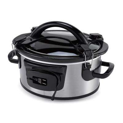 Single Hand 6 Qt. Cook and Carry Oval Slow Cooker