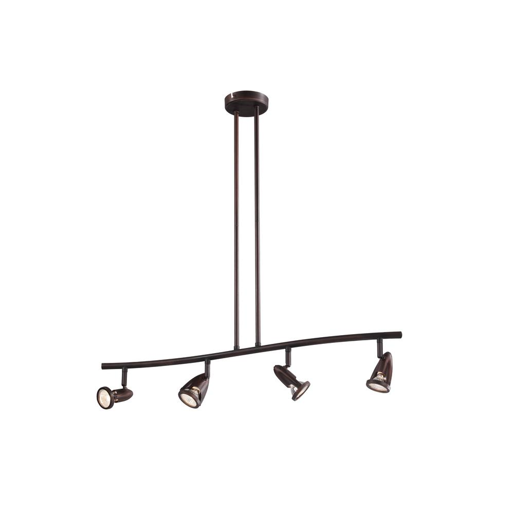 Stingray 2.7 ft. 4-Light Rubbed Oil Bronze Track Lighting Kit
