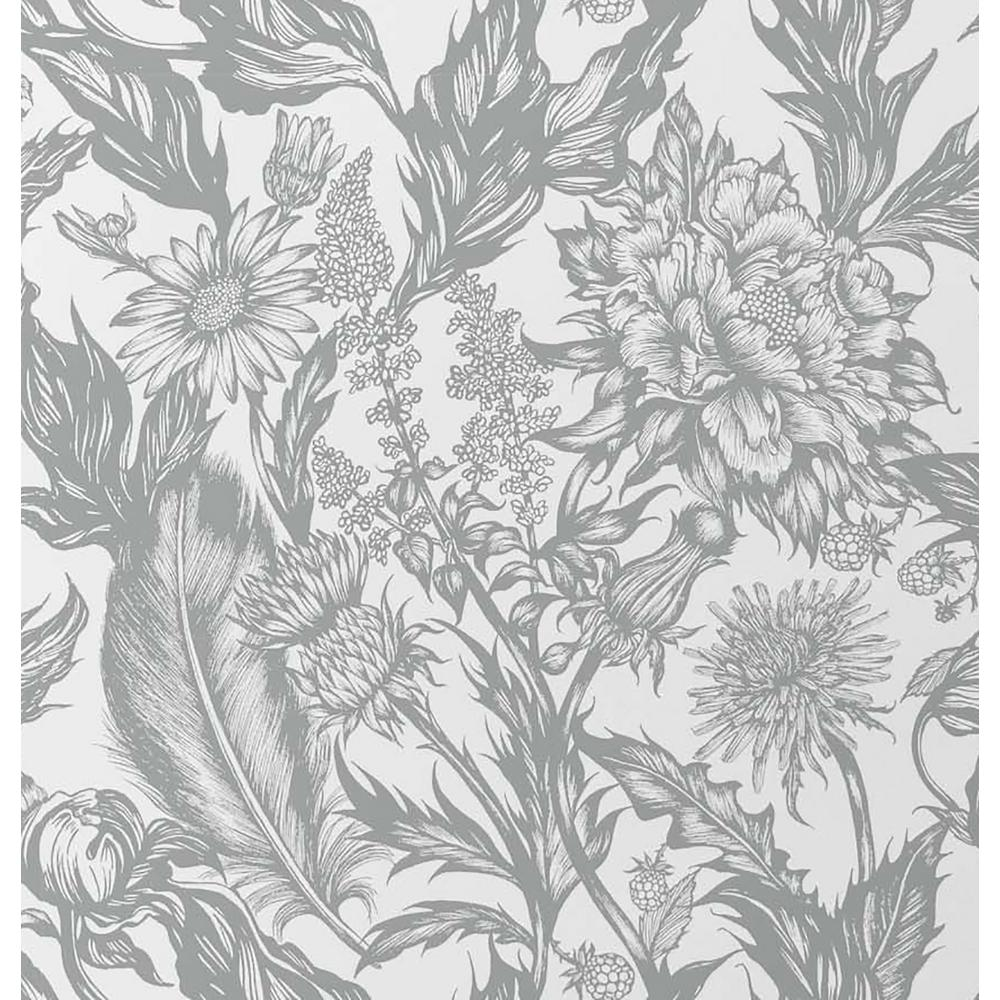 Advantage Cinna Silver Wild Flowers Wallpaper 2836 M1379 The Home