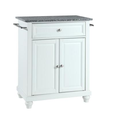 Cambridge Gray Portable Kitchen Island with Granite Top