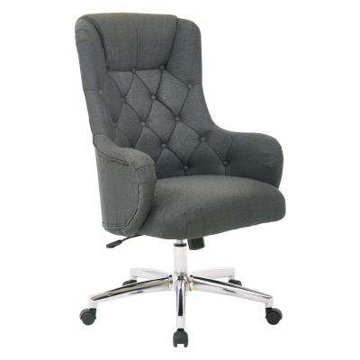 Ariel Charcoal Desk Chair