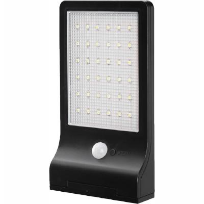 350 Lumen Motion Activated Solar Security Wall Light - Integrated LED Path Light, Waterproof, Dusk to Dawn Photocell
