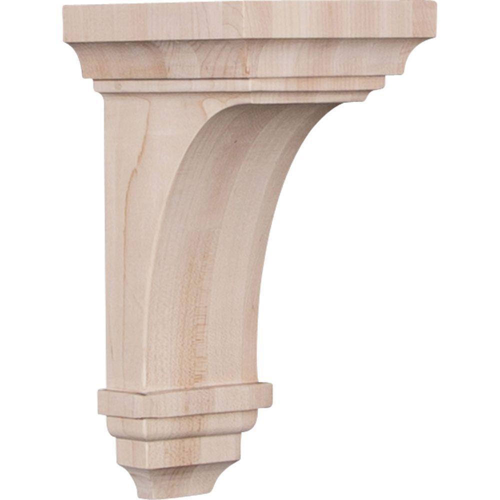 5 in. x 10 in. x 5-3/4 in. Red Oak Medium Jefferson Wood Corbel