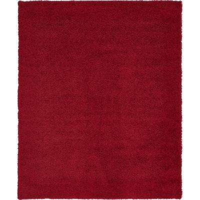 Solid Cherry Red 8 X 10 Rug
