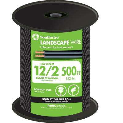 500 ft. 12/2 Black Stranded Low-Votlage Landscape Lighting Wire