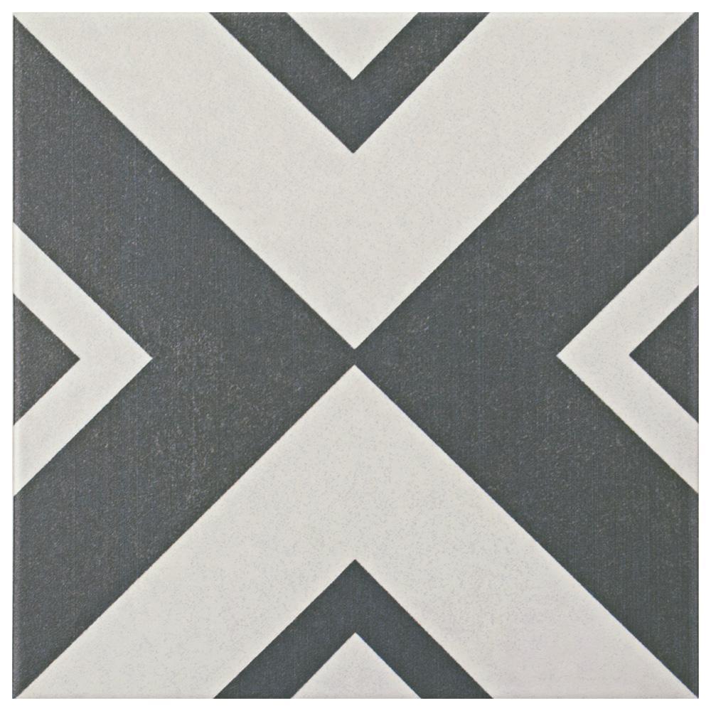 Twenties Vertex Encaustic 7-3/4 in. x 7-3/4 in. Ceramic Floor and Wall Tile