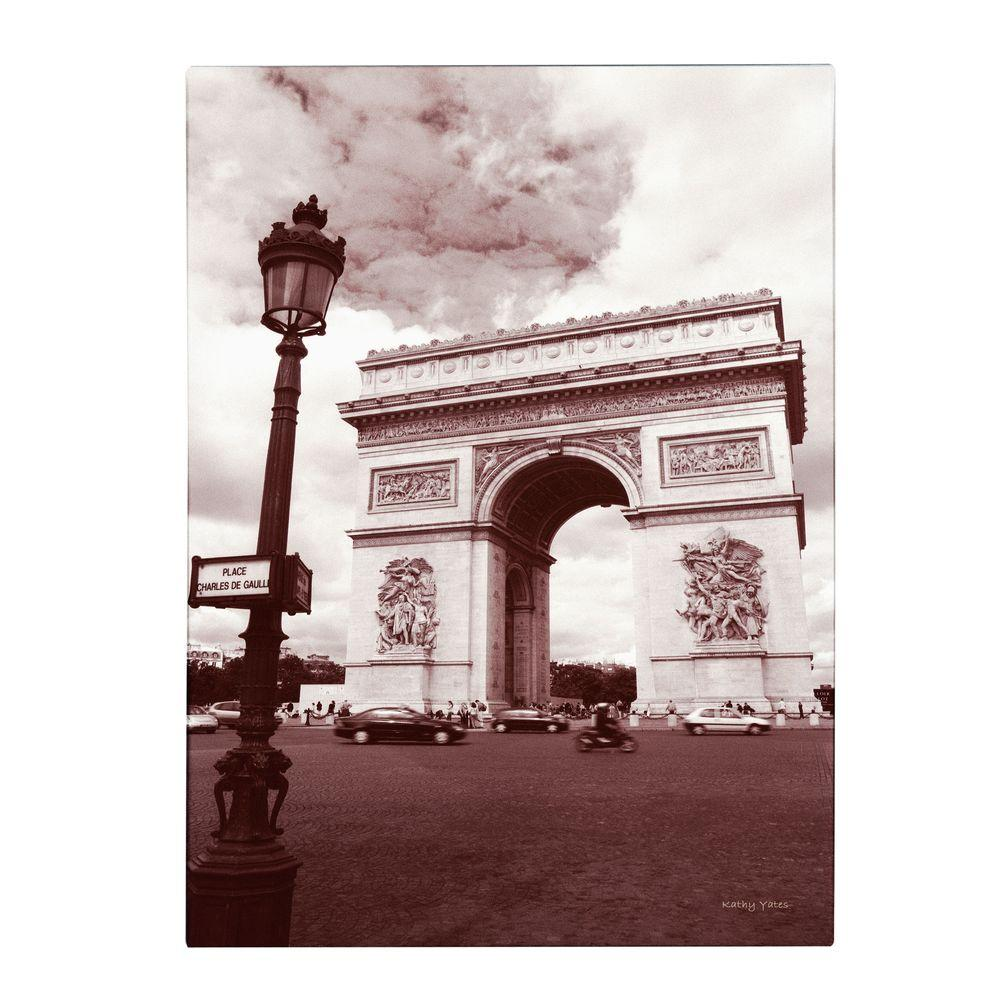 32 in. x 22 in. Arc De Triomphe Canvas Art