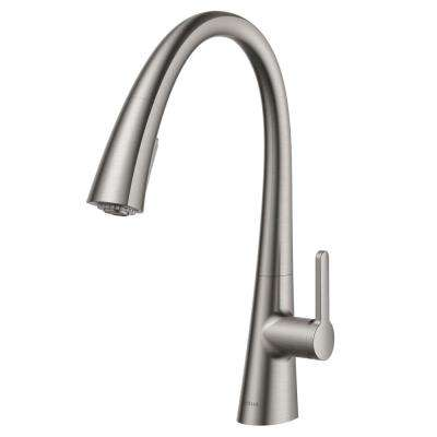 Nolen Single-Handle Pull-Down Sprayer Kitchen Faucet with 2-Function Sprayhead in all-Brite Spot Free Stainless Steel